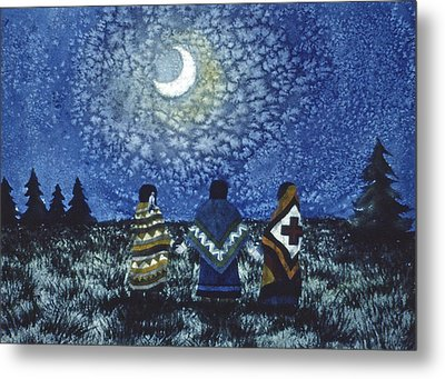 Moonlight Counsel Metal Print
