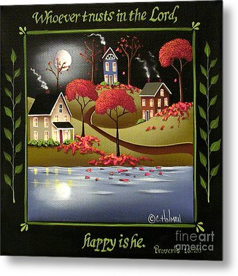 Moonlight In Cottage Grove Metal Print by Catherine Holman