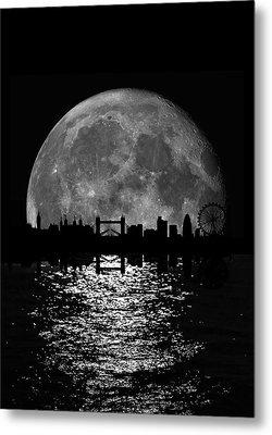 Moonlight London Skyline Metal Print by Mark Rogan