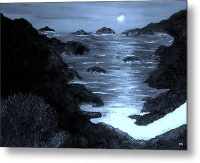 Moonlight On The Coast Metal Print by Sherri's Of Palm Springs
