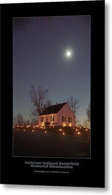 Moonlight Over Dunker Church 96 Metal Print by Judi Quelland