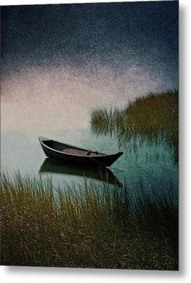 Moonlight Paddle Metal Print