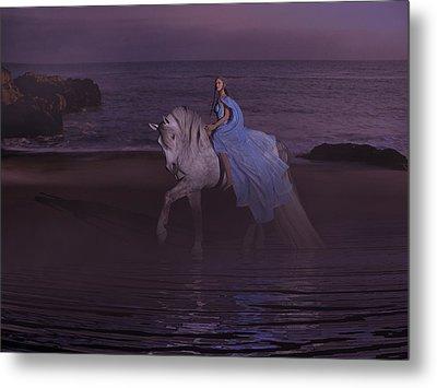 Moonlight Paradise Metal Print by Betsy Knapp