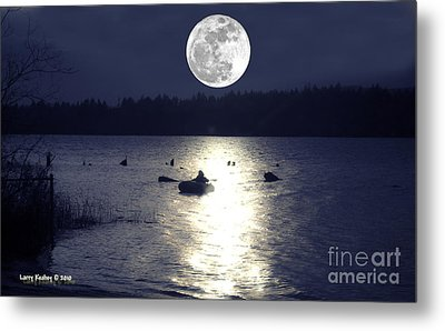 Moonlight Row Metal Print