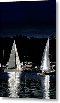 Metal Print featuring the photograph Moonlight Sailing by David Patterson