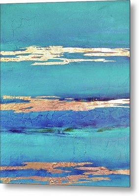 Moonlight Sea Metal Print by Filomena Booth