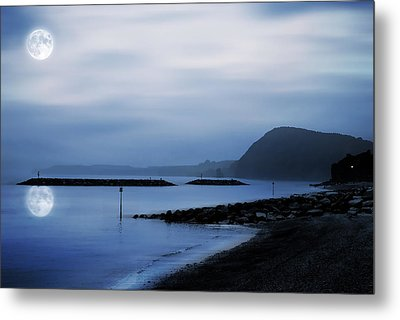 Moonlit Beach  Metal Print by Jaroslaw Grudzinski