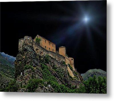 Moonlit Castle Metal Print
