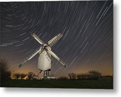 Moonlit Chillenden Windmill Metal Print