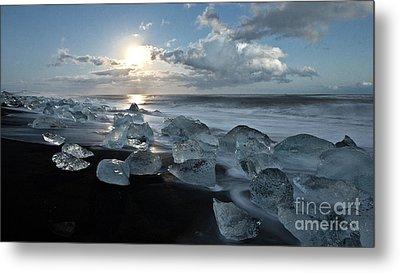 Moonlit Ice Beach Metal Print by Roddy Atkinson