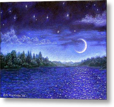 Moonlit Lake Metal Print