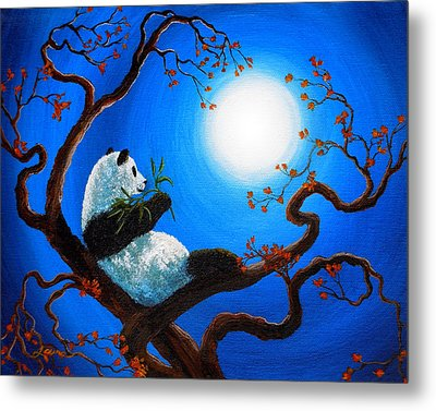 Moonlit Snack Metal Print
