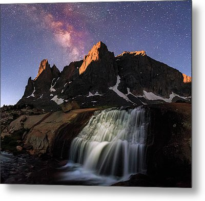 Moonrise At Cirque Of The Towers. Metal Print