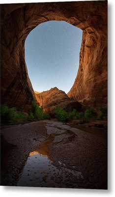 Metal Print featuring the photograph Moonrise At Coyote Gulch by Dustin LeFevre
