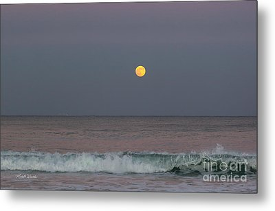 Metal Print featuring the photograph Moonrise At Sunset by Michelle Wiarda