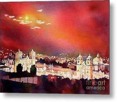 Moonrise Cusco- Peru Metal Print by Ryan Fox