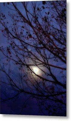 Metal Print featuring the photograph Moonrise by Ellen Heaverlo
