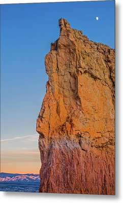 Moonrise Over Bryce Canyon Metal Print by Duane Miller