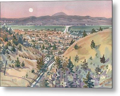 Moonrise Over San Mateo Metal Print by Donald Maier