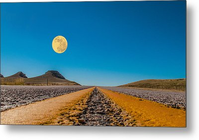 Moonrise Wyoming Metal Print
