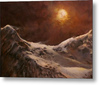 Moonscape Metal Print by Tom Shropshire