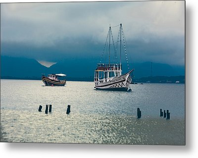 Metal Print featuring the photograph Moored Boats by Kim Wilson