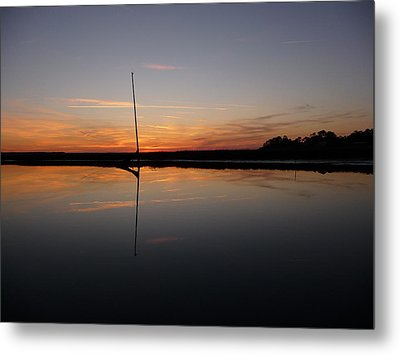 Metal Print featuring the photograph Moored Near Saint Marys by Joel Deutsch