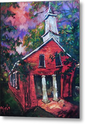 Mooresville Brick Church Metal Print by Carole Foret