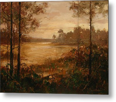Moorlands At Dusk Metal Print by Bill Mather