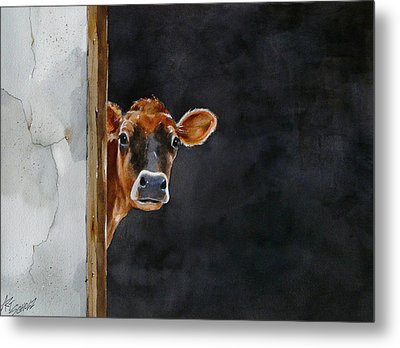 Moo's There? Metal Print by Art Scholz