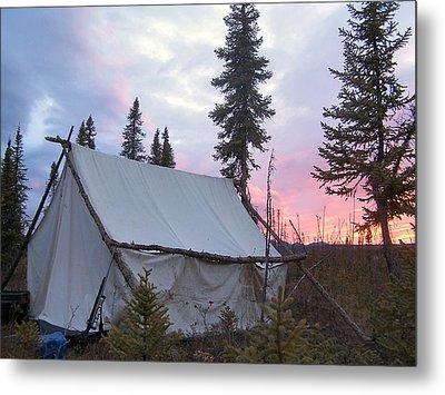 Moose Camp Metal Print
