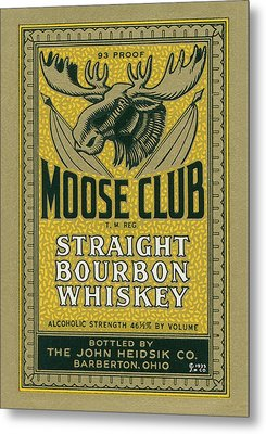Moose Club Bourbon Label Metal Print by Tom Mc Nemar