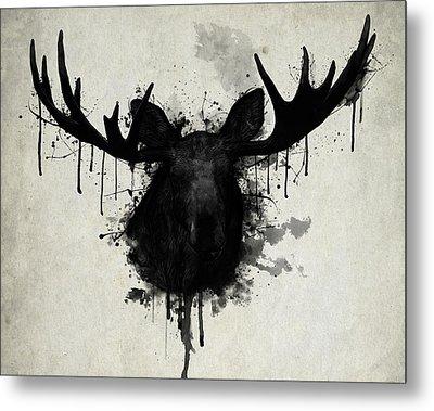 Moose Metal Print by Nicklas Gustafsson