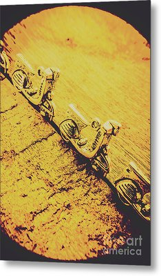 Moped Parking Lot Metal Print by Jorgo Photography - Wall Art Gallery