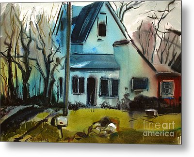 Metal Print featuring the painting Moppity's House Matted Framed Glassed by Charlie Spear