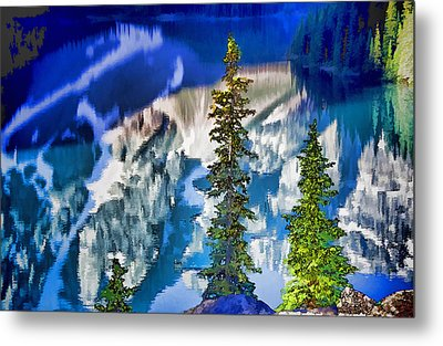 Moraine Reflections Metal Print by Dennis Cox WorldViews