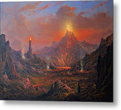Mordor Land Of Shadow Metal Print by Joe Gilronan