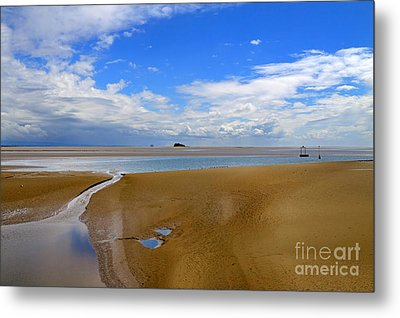 Morecambe Bay Cumbria Metal Print by Louise Heusinkveld
