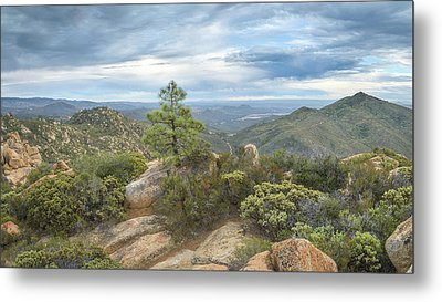 Metal Print featuring the photograph Morena Valley And Los Pinos Mountain by Alexander Kunz