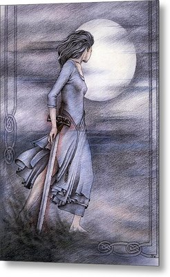 Morgan Le Fay Metal Print by Johanna Pieterman
