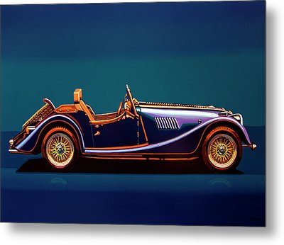 Morgan Roadster 2004 Painting Metal Print by Paul Meijering