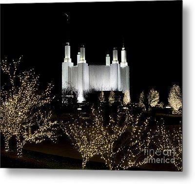 Mormon Temple 2 Metal Print