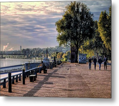 Metal Print featuring the photograph Morning Along The Rhine by Jim Hill