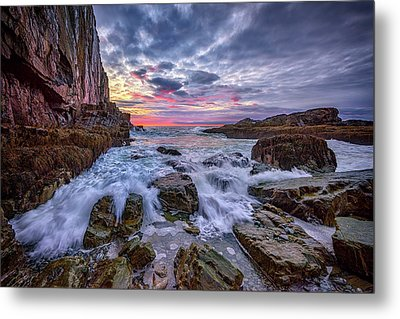 Morning At Bald Head Cliff Metal Print by Rick Berk