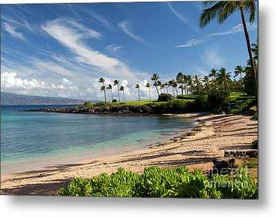 Morning At Kapalua Bay Metal Print