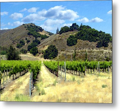 Morning At Mosby Vineyards Metal Print by Kurt Van Wagner