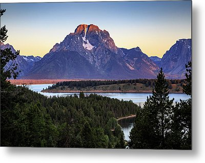 Metal Print featuring the photograph Morning At Mt. Moran by David Chandler