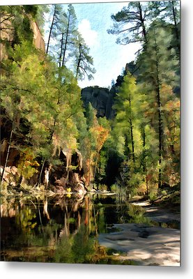 Morning At Oak Creek Arizona Metal Print by Kurt Van Wagner