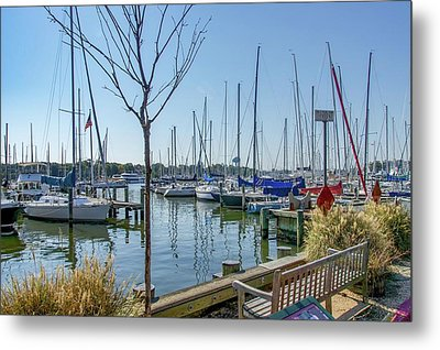 Metal Print featuring the photograph Morning At The Marina by Charles Kraus