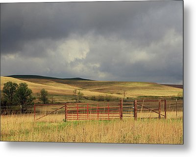 Morning At The Tallgrass Prairie Metal Print by Christopher McKenzie